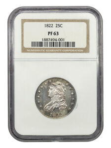 Click now to see the BUY IT NOW Price! 1822 25C NGC PR 63   CAPPED BUST QUARTERS  PROOF     PROOF
