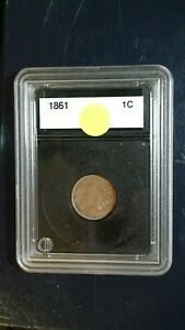 1861 INDIAN HEAD CENT EXTRA FINE 1C PENNY COIN PRICED TO SELL FAST