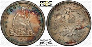 LIBERTY SEATED QUARTER 1891 P PCGS MS 65