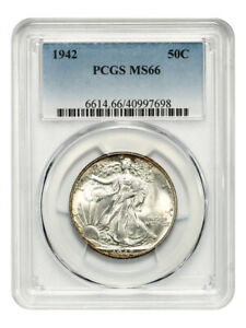 1942 50C PCGS MS66   WALKING LIBERTY HALF DOLLAR