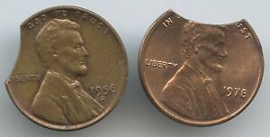 2 PCS. LINCOLN CENTS W/CLIPS