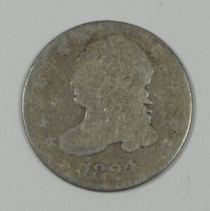 1824/2 CAPPED BUST SILVER DIME AG SILVER 10C