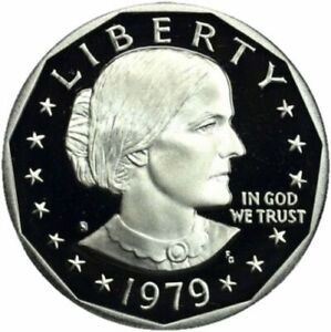 1979 S SUSAN B ANTHONY ONE DOLLAR DEEP TYPE 1 CAMEO GEM PROOF FROM PROOF SET