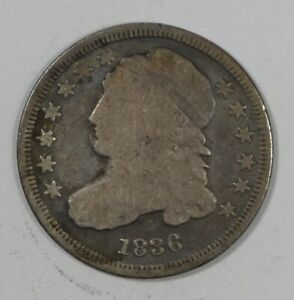 1836 CAPPED BUST SILVER DIME GOOD SILVER 10C