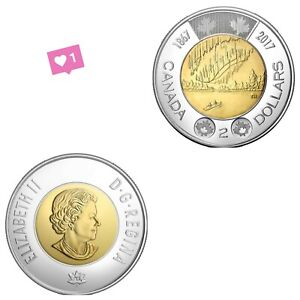 2017  2 DOLLAR TOONIE DANCE OF THE SPIRITS COIN CANADA BU UNC FROM MINT ROLL