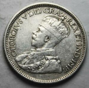 CANADA 1919 SILVER 10 CENTS NICE GRADE OLD DATE KGV  10F