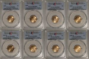 Click now to see the BUY IT NOW Price! 2009 P & D LINCOLN 1C CENT 8 COIN SET PCGS SP69RD SATIN FINISH EC FY PRO PRES