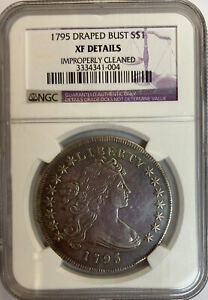 1795 DRAPED BUST DOLLAR NGC XF DETAILS CLEANED