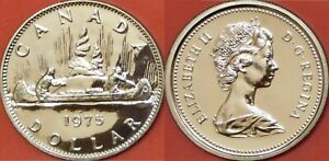 PROOF LIKE 1975 CANADA DETACHED JEWELS 1 DOLLAR FROM MINT'S SET