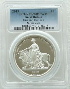 Click now to see the BUY IT NOW Price! 2019 UNA AND THE LION 5 FIVE POUND SILVER PROOF 2OZ COIN PCGS PR70 DCAM