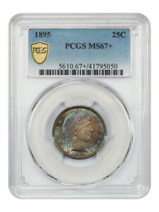 Click now to see the BUY IT NOW Price! 1895 25C PCGS MS67  TIED FOR FINEST KNOWN   BARBER QUARTER