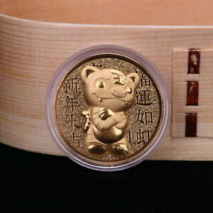 2022 CHINA NEW YEAR TIGER YEAR ORIGINAL COMMEMORATIVE COIN COLLECTION CRAFT DIN