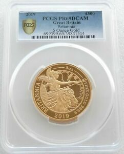 Click now to see the BUY IT NOW Price! 2019 ROYAL MINT BRITANNIA 500 POUND GOLD PROOF 5OZ COIN PCGS PR69 DCAM