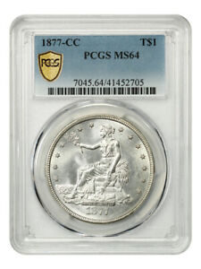 Click now to see the BUY IT NOW Price! 1877 CC TRADE$ PCGS MS64   US TRADE DOLLAR   FLASHY