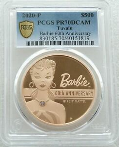 Click now to see the BUY IT NOW Price! 2019 TUVALU MATTEL BARBIE $500 DOLLAR GOLD PROOF 2OZ COIN PCGS PR70 DCAM