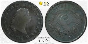 SILVER DOLLARS FLOWING HAIR 1795 P PCGS GENUINE    VF DETAILS  94   ALTERED SURF