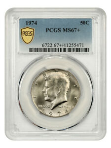 Click now to see the BUY IT NOW Price! 1974 50C PCGS MS67    KENNEDY HALF DOLLAR   TIED FOR FINEST KNOWN