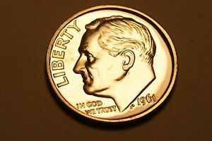 1961 P ROOSEVELT DIME US COIN   PROOF    90  SILVER   1
