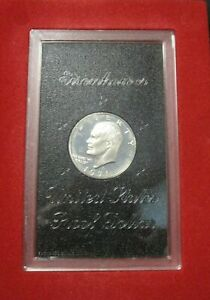 1971 S EISENHOWER SILVER DOLLAR $1 COIN PROOF BROWN BOX