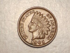 1905 INDIAN HEAD CENT  AU & ATTRACTIVE