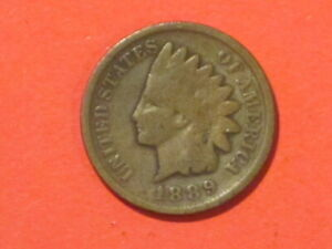 1889  INDIAN HEAD CENT    GOOD EXAMPLE.  KM 90A