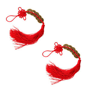 2PCS CHINESE KNOT SCENE LAYOUT DECOR AUSPICIOUS CRAFTS FOR HOME BANQUET PARTY