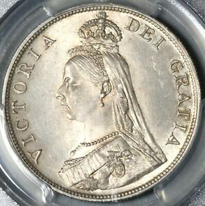Click now to see the BUY IT NOW Price! 1889 PCGS MS 64 VICTORIA DOUBLE FLORIN 4 SHILLINGS GREAT BRITAIN COIN  21082201D