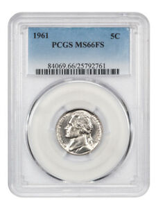 Click now to see the BUY IT NOW Price! 1961 5C PCGS MS66 FS   JEFFERSON NICKEL    ONLY ONE FINER