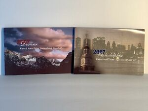 2007 UNITED STATES MINT UNCIRCULATED COIN SET P AND D MINT MARKS