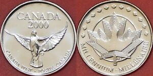 PROOF LIKE 2000 CANADA DOVE TOKEN FROM MINT'S SET