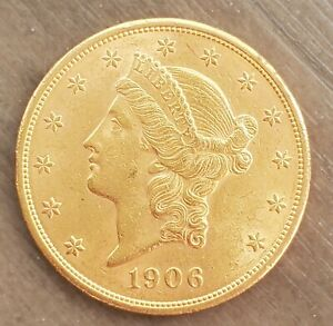 1906 $20 LIBERTY DOUBLE EAGLE GOLD COIN SUPER FAST SHIPPING