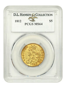1812 $5 PCGS MS64 EX: D.L. HANSEN    EARLY TYPE COIN
