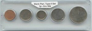 5 PC. SET OF TYPE II PLANCHETS 1   50