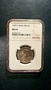 1979 P SUSAN B ANTHONY NGC MS64 NEAR GEM UNCIRCULATED $1 COIN BUY IT NOW
