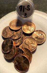 1971 S LINCOLN MEMORIAL CENTS ROLL UNC TO BU   ISSUES