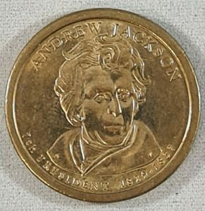 VINTAGE ANDREW JACKSON $1 AMERICAN PRESIDENTIAL COIN SERIES USA 1829 TO 1837