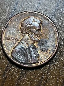 1992? LINCOLN WHEAT CENT  GREASE STRIKE THROUGH GREAS   AMAZING ERROR