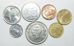 1974 1 SUCRE ECUADOR OTHER GREAT WORLD COINS 7 UNC OR HIGH GRADE VALUE COINS C16