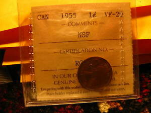 Click now to see the BUY IT NOW Price! LY  CANADA 1955 NSF PENNY ICCS COIN IDT3..
