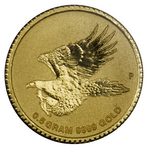 2015 AUSTRALIA SEALED .5G GOLD WEDGE TAILED EAGLE COIN $2 MINT CONDITION PROOF