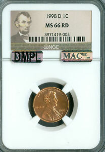 Click now to see the BUY IT NOW Price! 1998 D LINCOLN CENT NGC MAC MS66 RED DMPL PQ