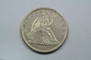 Click now to see the BUY IT NOW Price! 1843 XF SEATED LIBERTY HALF  DIE CRACK   C2789