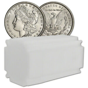 Click now to see the BUY IT NOW Price! US MORGAN SILVER DOLLAR   ROLL OF 20 COINS   AU   PRE 1921 RANDOM DATE