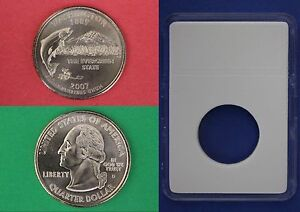 2007 D WASHINGTON STATE QUARTER WITH DIY SLAB FROM MINT SET COMBINED SHIPPING