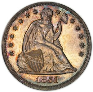 Click now to see the BUY IT NOW Price! 1851 $1 RESTRIKE OVER O MINT LIBERTY SEATED DOLLAR PCGS PR63