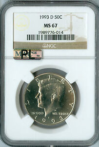 Click now to see the BUY IT NOW Price! 1993 D KENNEDY HALF DOLLAR MAC MS67 PL 2ND FINEST REGISTRY WITH 2 FINER