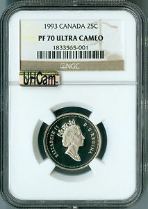 Click now to see the BUY IT NOW Price! 1993 CANADA 25 CENTS  NGC MAC PR70 UHCAM  SOLO FINEST SPOTLESS