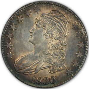 Click now to see the BUY IT NOW Price! 1830 50C LARGE 0 CAPPED BUST HALF DOLLAR PCGS MS63