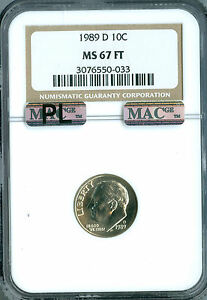 Click now to see the BUY IT NOW Price! 1989 D ROOSEVELT DIME NGC MAC MS67 FT PL PQ FINEST REGISTRY SPOTLESS