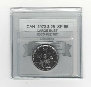 Click now to see the BUY IT NOW Price!   1973 LB   COIN MART GRADED CANADIAN 25 CENT   SP 66   ICCS  EZ 767
